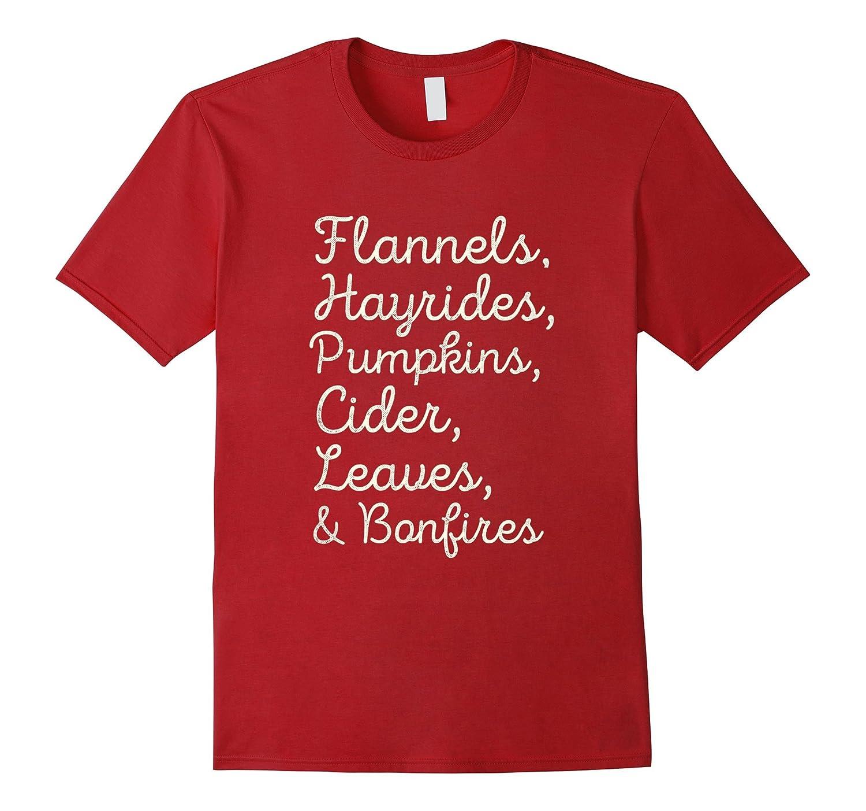 Flannels, Hayrides and Pumpkins Fall T-shirt-FL