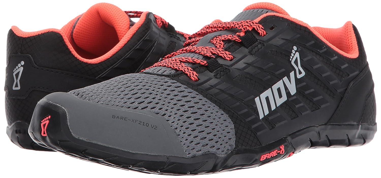 Inov-8 Sneaker Women's Bare-XF 210 V2 Sneaker Inov-8 B01MU1GSY8 7 M US|Grey/Black/Coral 441f7b