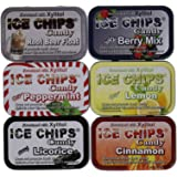 New! Ice Chips Candy Variety Pack 2 Featuring Root Beer Float! A variety pack of 6 tins including the following flavors: Juicy Berry Mix, Real Peppermint, Real Lemon, Cinnamon, Licorice and Root Beer Float.