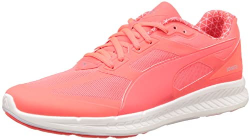 94d4fa98d17 Puma Men s Ignite PWRWARM Fiery Coral and White Mesh Running Shoes -  10UK India (