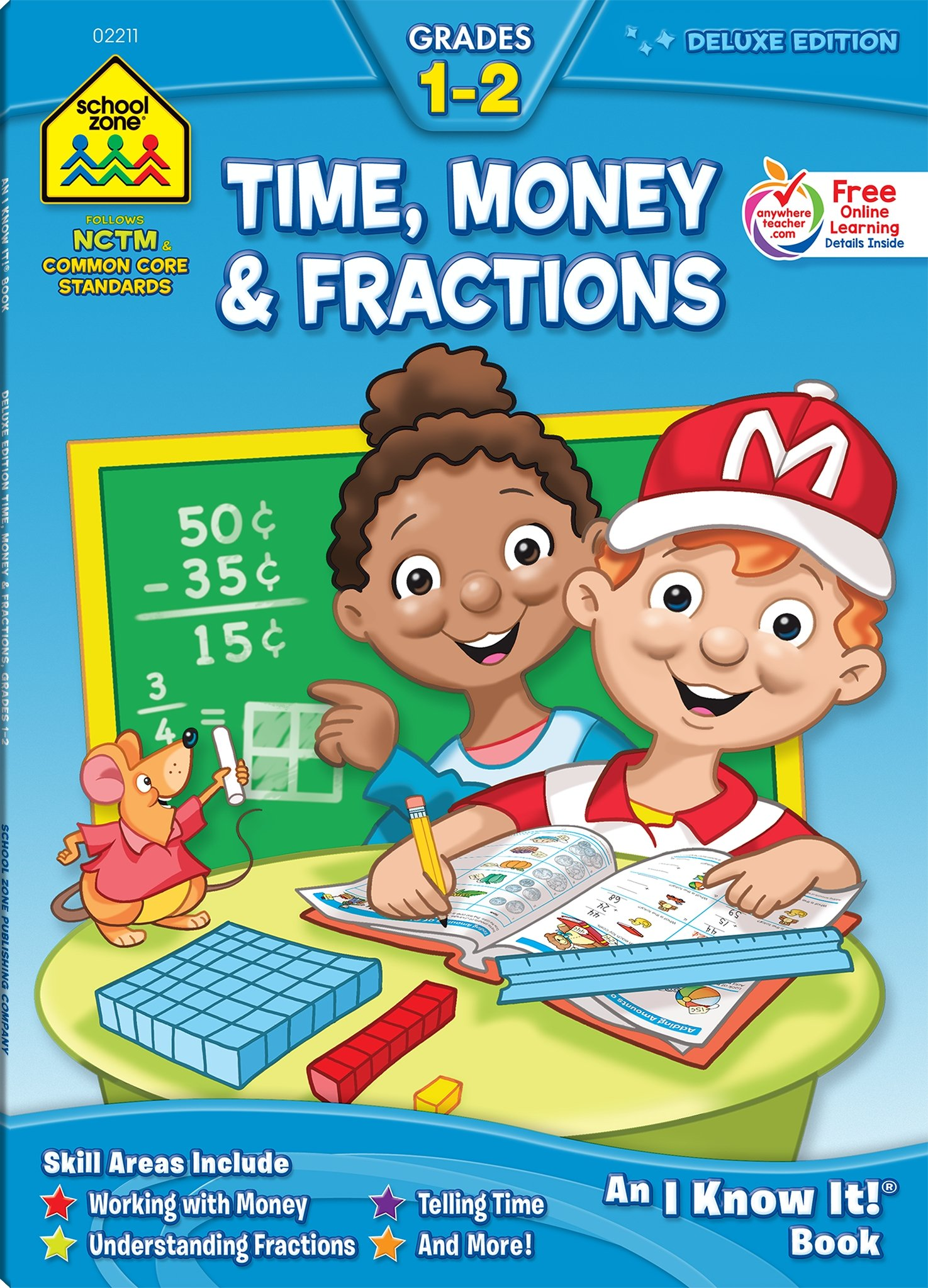 Workbooks-Time, Money and Fractions Grades 1-2