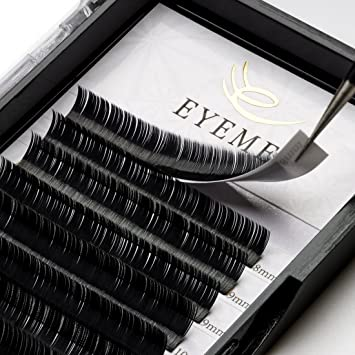 07314fb7a9d Amazon.com : Ellipse Eyelash Extensions 0.20mm D Curl Volume Individual  Flat Eyelash extension Soft natural False Mink Lashes Professional Use by  EYEMEI .