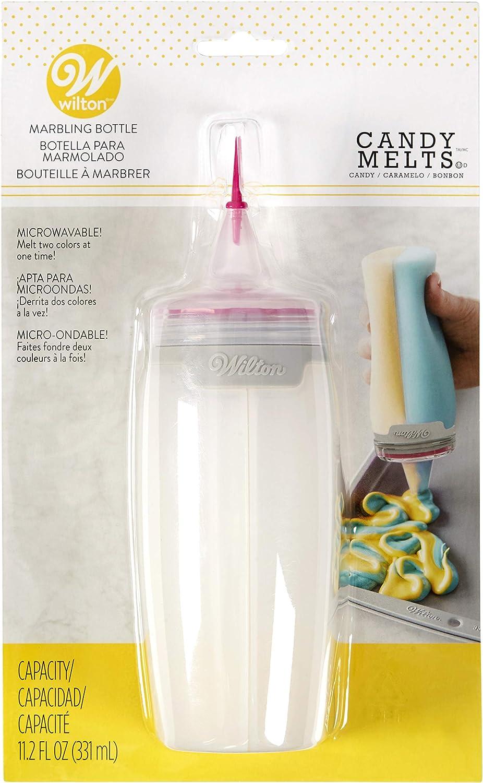 Wilton Marbling Bottle, 16.6x7x26.7, Clear/Pink/Grey