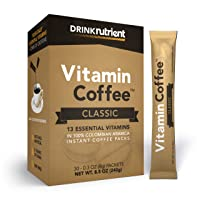 Nutrient Vitamin Coffee - Infused Coffee Packets - Instant Coffee Singles with 13...
