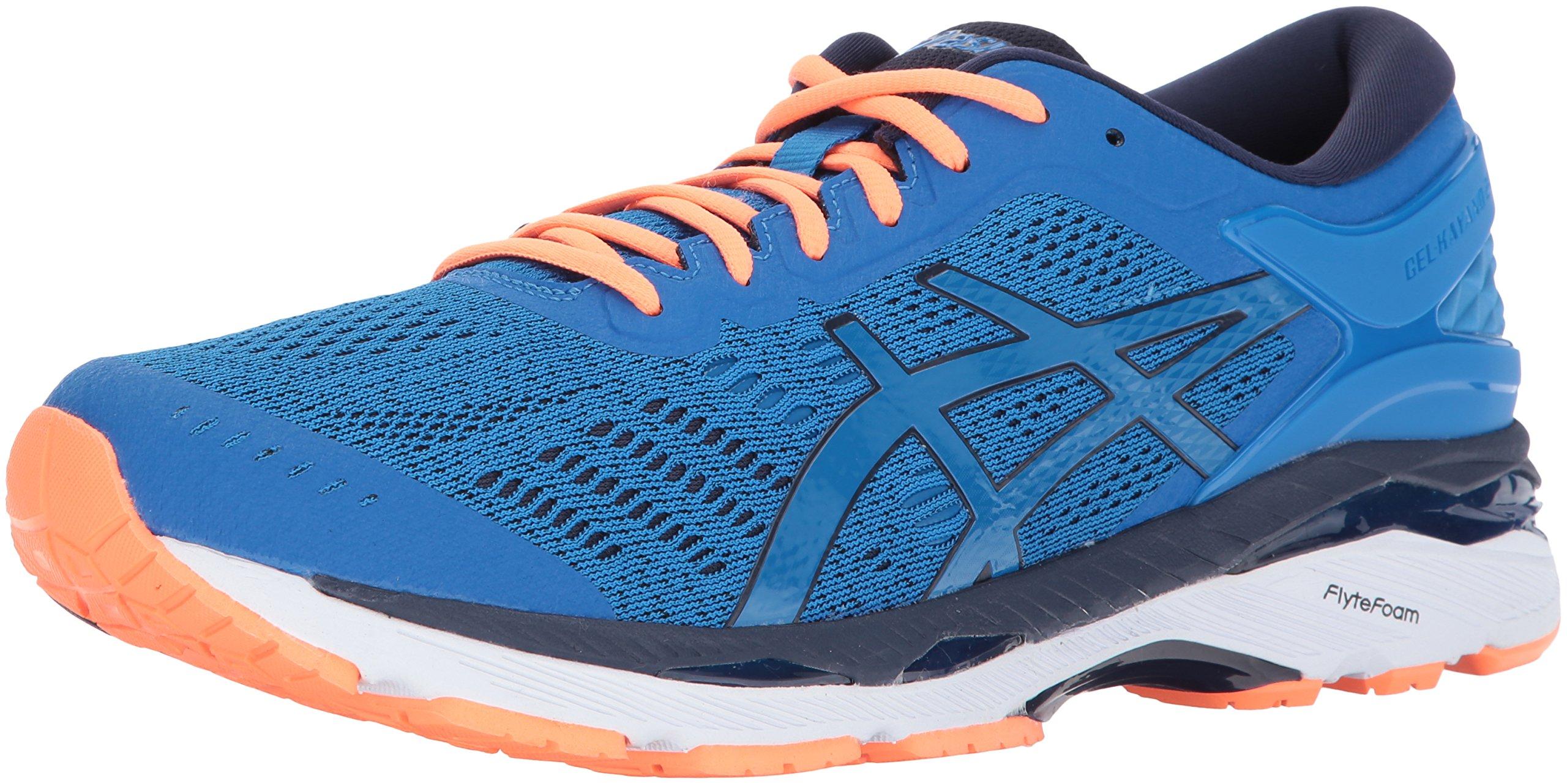 ASICS Mens Gel-Kayano 24 Running Shoe Directoire Blue/Peacoat/Hot Orange 6 Medium US