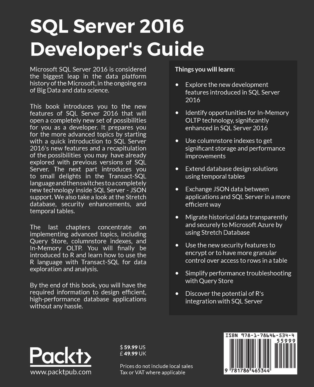 Buy sql server 2016 developers guide book online at low prices in buy sql server 2016 developers guide book online at low prices in india sql server 2016 developers guide reviews ratings amazon baditri Images