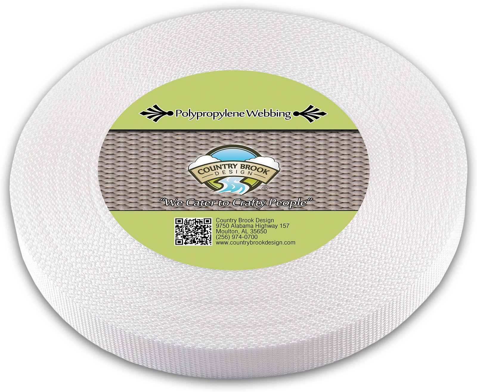 Country Brook Design 1 Inch White Heavy Polypro Webbing, 1000 Yards by Country Brook Design
