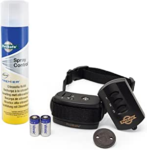 PetSafe Remote Spray Trainer, Training Collar and Remote for Dogs 8 lb. and Up, Water Resistant with Citronella Spray