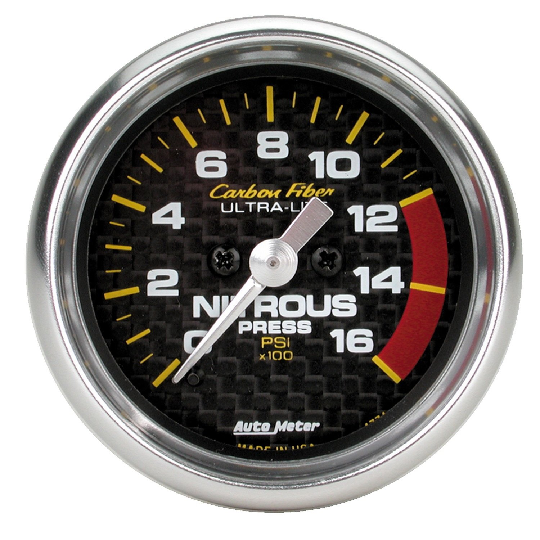 AUTO METER 4774 Carbon Fiber Electric Nitrous Pressure Gauge by AUTO METER