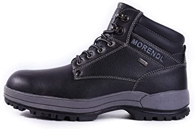 MORENDL Men/'s Anti-Slip Snow Boots Outdoor Hiking Water-Resistance Winter Work Shoes