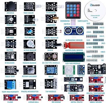 ELEGOO Actualizado 37-en-1 Kit de Módulos de Sensores con Tutorial ...