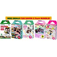 $40 » Fujifilm Instax Mini Instant Film Bundle, Candy Pop, Stained Glass, Stripe, Shiny Star, Single Pack, 50…