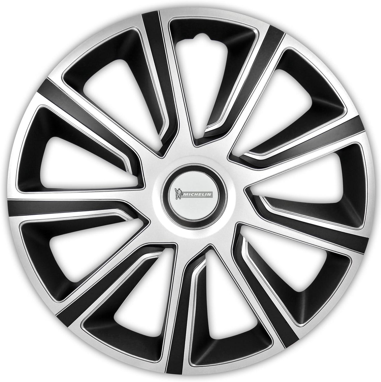 Michelin 92013 Set de tapacubos Louise con sistema reflector N.V.S., set de 4 piezas, 35,56 cm, 14 pulgadas, plateado /negro: Amazon.es: Electrónica