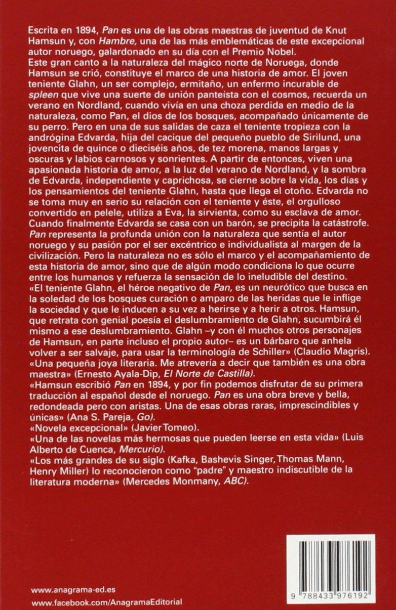 Pan (Spanish Edition) (Otra Vuelta De Tuerca): Knut Hamsun: 9788433976192: Amazon.com: Books