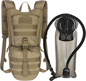 Unigear Tactical Hydration Packs Backpack 1050D with 2.5L Water Bladder, Thermal Insulation Pack Keeps Liquid Cool up to 4 Hours for Hiking, Cycling, Hunting and Climbing