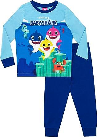 Pink fong Boys Baby Shark Blue Pyjamas