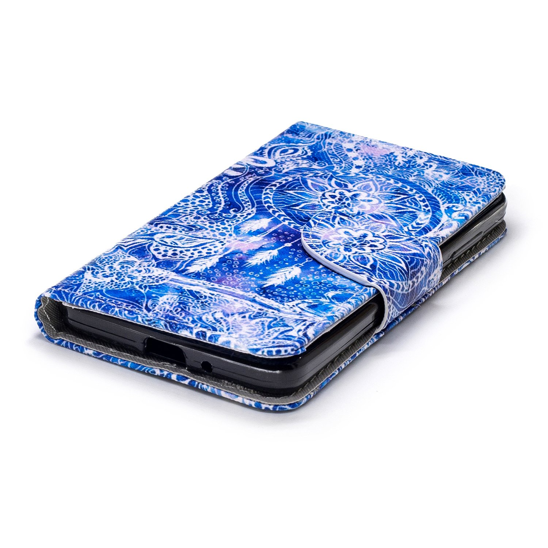 Herbests Coque pour Xiaomi Redmi 4A Coque PU Cuir Flip Wallet Protective Case Housse Etui avec Fonction Stand et Fentes de Carte de Cr/édit Flexible #D398