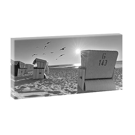 Querfarben Sillones de Playa de Playa, Imagen panorámica en ...