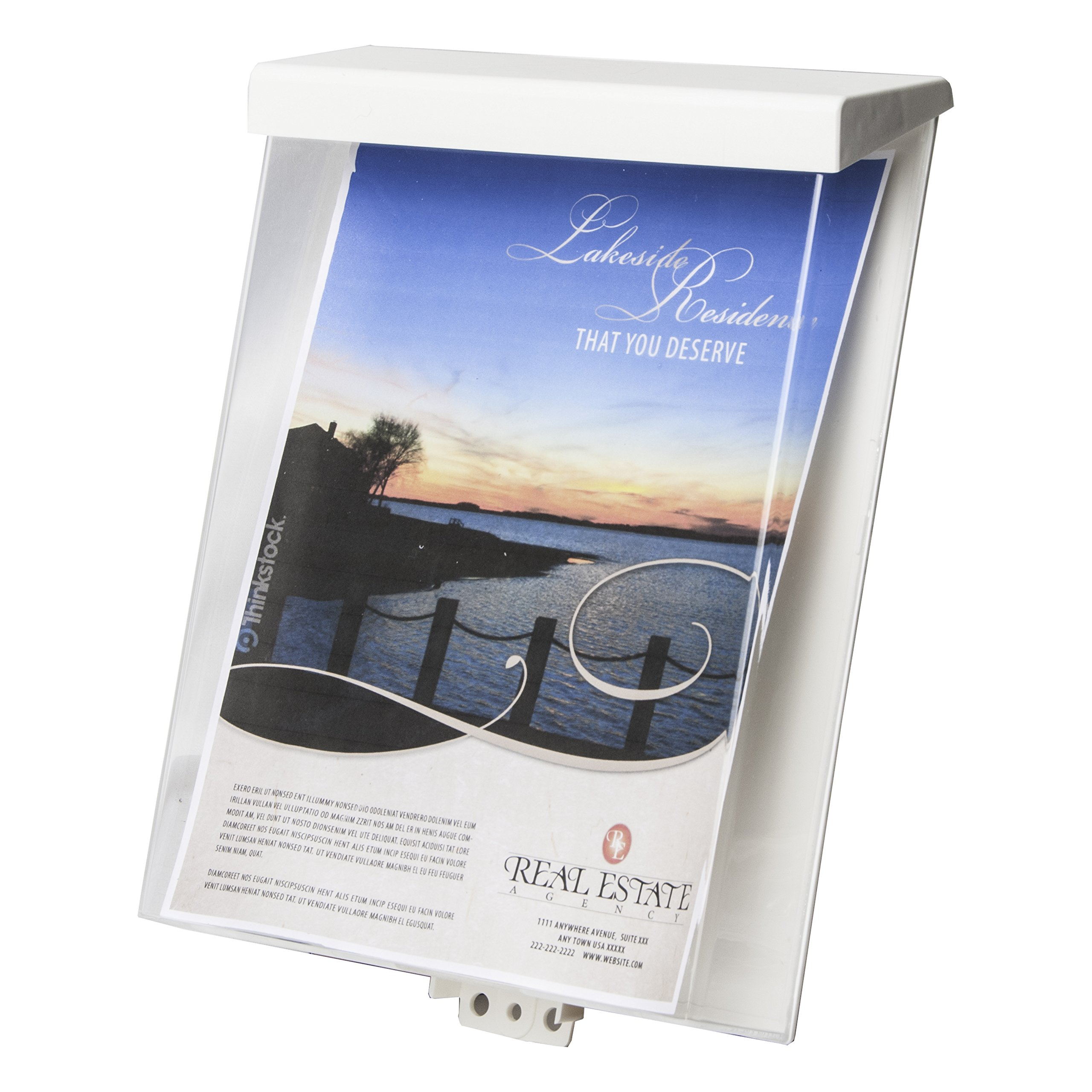 Clear-Ad - SRE-912-HD - Acrylic Waterproof Outdoor Brochure Holder with Self-Closing Lid - Plastic Heavy Duty Flyer Display 8.5x11 (Pack of 10)