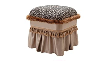Enjoyable Jennifer Taylor Home 2337 655675 Cassandra Ottoman Leopard Inzonedesignstudio Interior Chair Design Inzonedesignstudiocom