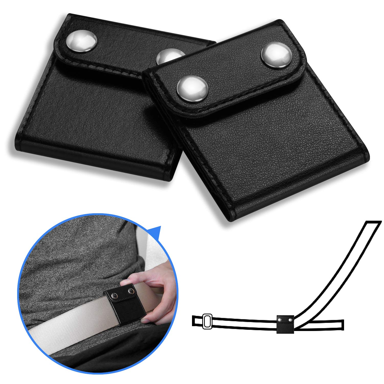JCBABA Seatbelt Adjuster for Adults and Kids, Pack of 2 car Seatbelt Adjuster, Car Seat Belt Covers with PU Leather Auto Shoulder Neck Protector Strap Positioner Locking Clip for Short Adults