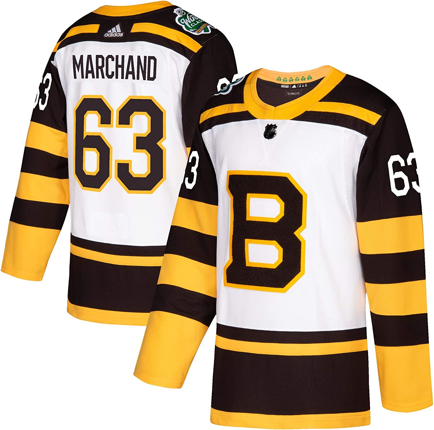 adidas Brad Marchand Boston Bruins 2019 Winter Classic Authentic Jersey