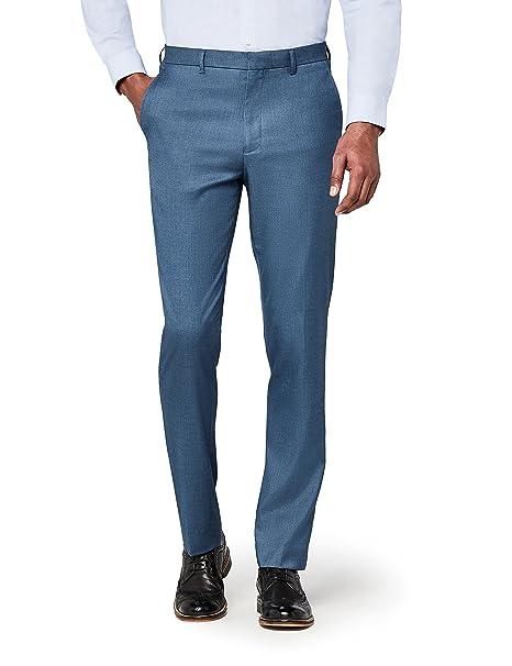 mejor servicio 9725a 59526 Marca Amazon - Hem & Seam Pantalón Clásico de Corte Recto Hombre