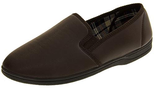 Piri Piri Hombre Marrón Zapatillas De Cuero De Imitación EU 47: Amazon.es: Zapatos y complementos