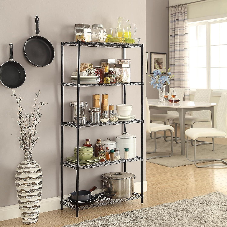 Amazoncom Homebi 5 Tier Wire Shelving 5 Shelves