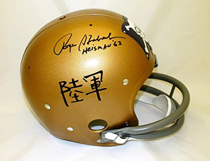 6f717d32f7d Image Unavailable. Image not available for. Color: Roger Staubach hand signed  Navy ...