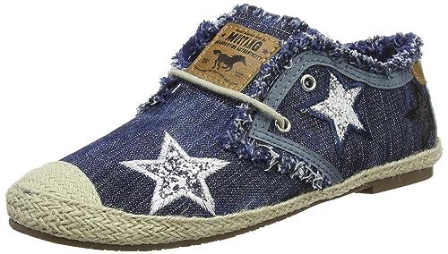 Mustang 3132-301 - Slippers de Tela Mujer, Color Azul, Talla 42 EU: Amazon.es: Zapatos y complementos