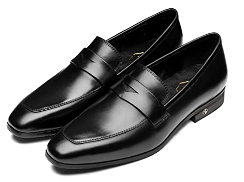 6038a30f OPP Mens Classic Slip Round Toe Loafers Dress Shoes6 (11.5 D(M) US ...