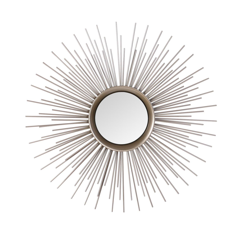 Asense Home Collection Sunburst Mirror, Classic Metal Decorative Wall Mirror