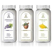 Zen Rituals badzout voor ontspanning set met 3 flessen - puur magnesium badzout ylang ylang, Epsom zout geneeskrachtige…