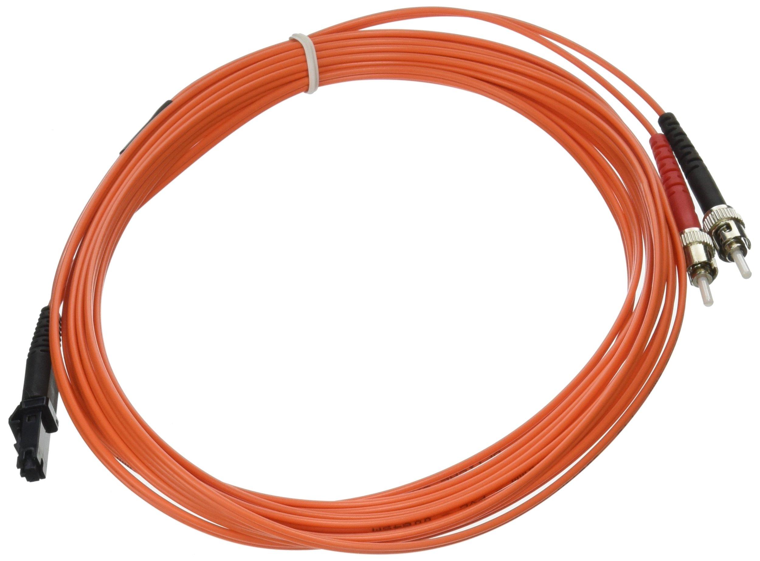 C2G Cables to Go 33139 MTRJ-ST 62.5/125 OM1 Duplex Multimode PVC Fiber Optic Cable (5 Meters, Orange)