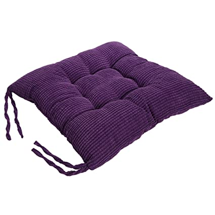 Corduroy Chair Pad   TKOOFN Expandable Polyethylene (EPE) Stuffed Seat  Cushion [13.7x13