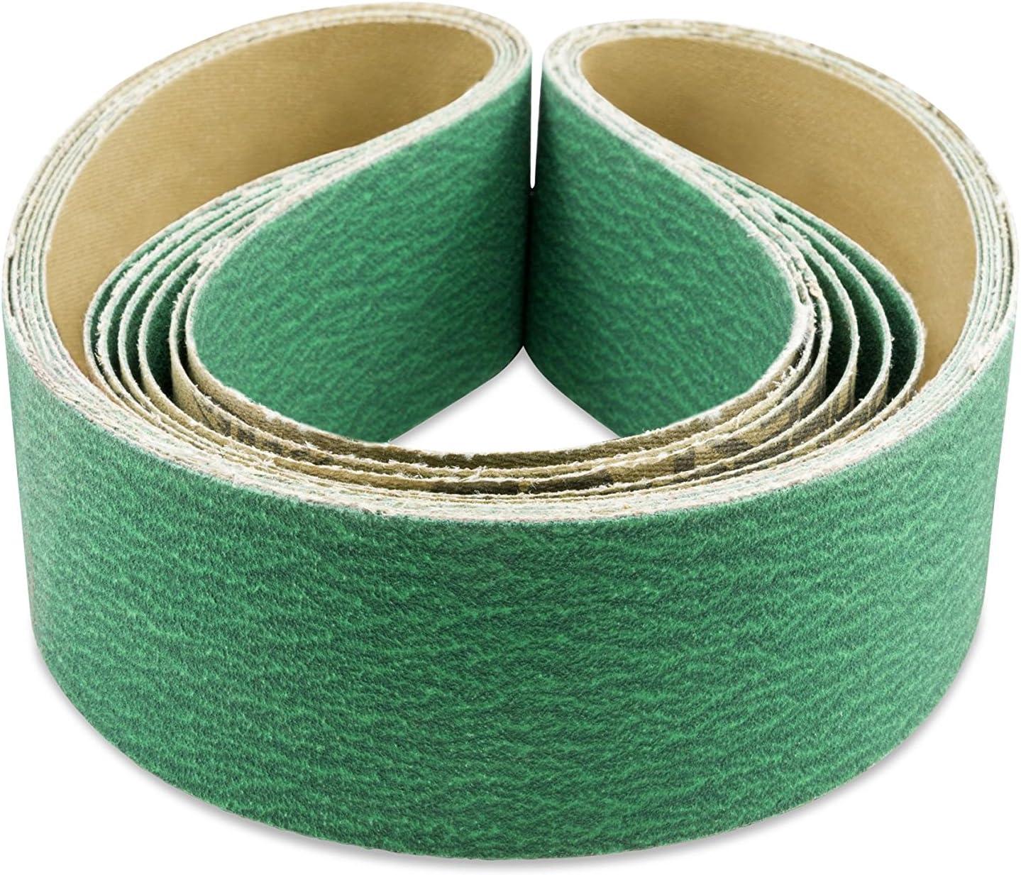1-1//8-Inch x 21-Inch Zirconia Abrasive Belt 40 Grit, 10 Pack