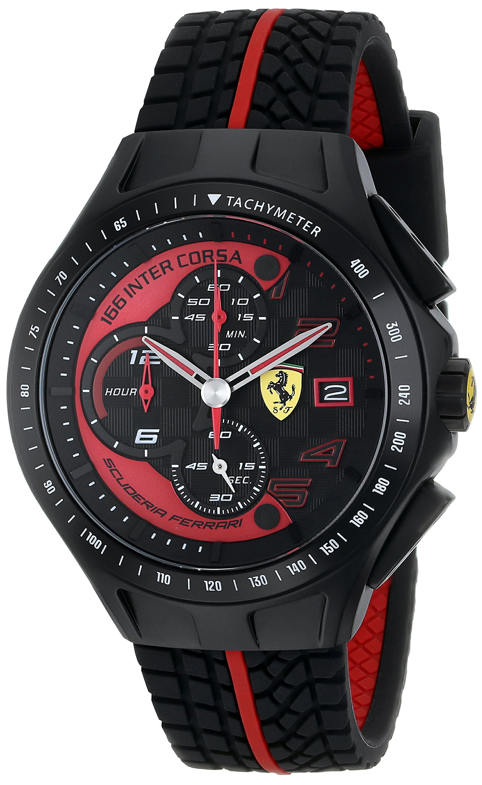 Ferrari Men's 0830077 Race Day Chronograph Black Rubber Strap Watch by Ferrari