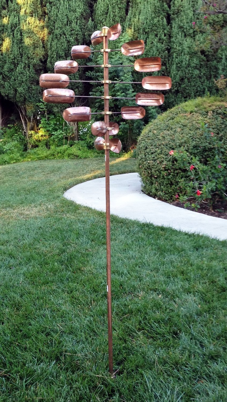 Amazon.com: Stanwood Wind Sculpture CWS 06 Kinetic Lucky 8 Twirler Copper  Wind Spinner: Garden U0026 Outdoor