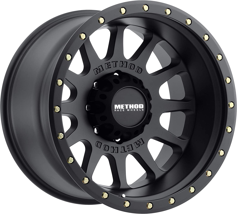 52mm Offset 4.5 Backspace Method Race Wheels 605 NV Matte Black 20x12 8x170 MR60521287552N