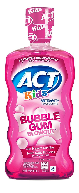 ACT Kids Anti-Cavity Fluoride Rinse, Bubblegum Blowout 16.9 oz thomaswi