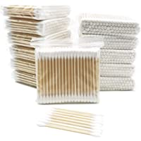 1200 Pieces Organic Cotton Swabs with Wooden Sticks   Biodegradable Cotton Buds   Eco Friendly Cotton Swabs