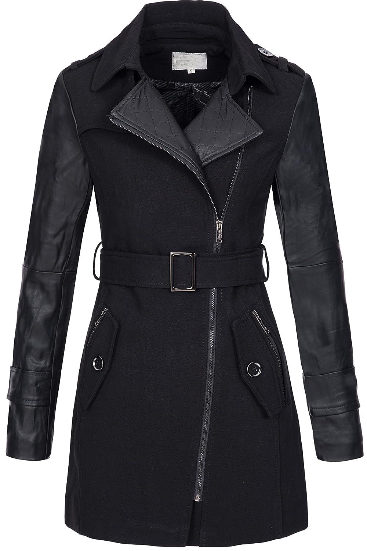 Peak Time Damen Übergangs-Jacke Woll-Mantel Trenchcoat F6276