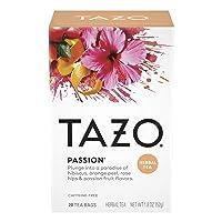 Tazo Herbal Tea Tea Bags For a Refreshing Beverage Passion Caffeine-Free 20 Tea...