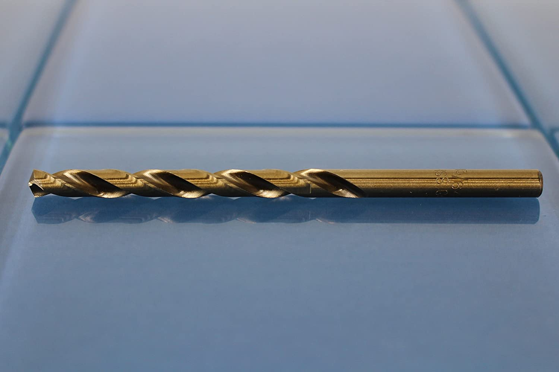 TEMO 12pc 31//64 inch Cobalt 135-Degree Jobber Drill Bit 10 inch Length