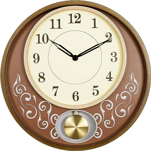 Bestime 13 inch Vintage Wooden Wall Clock