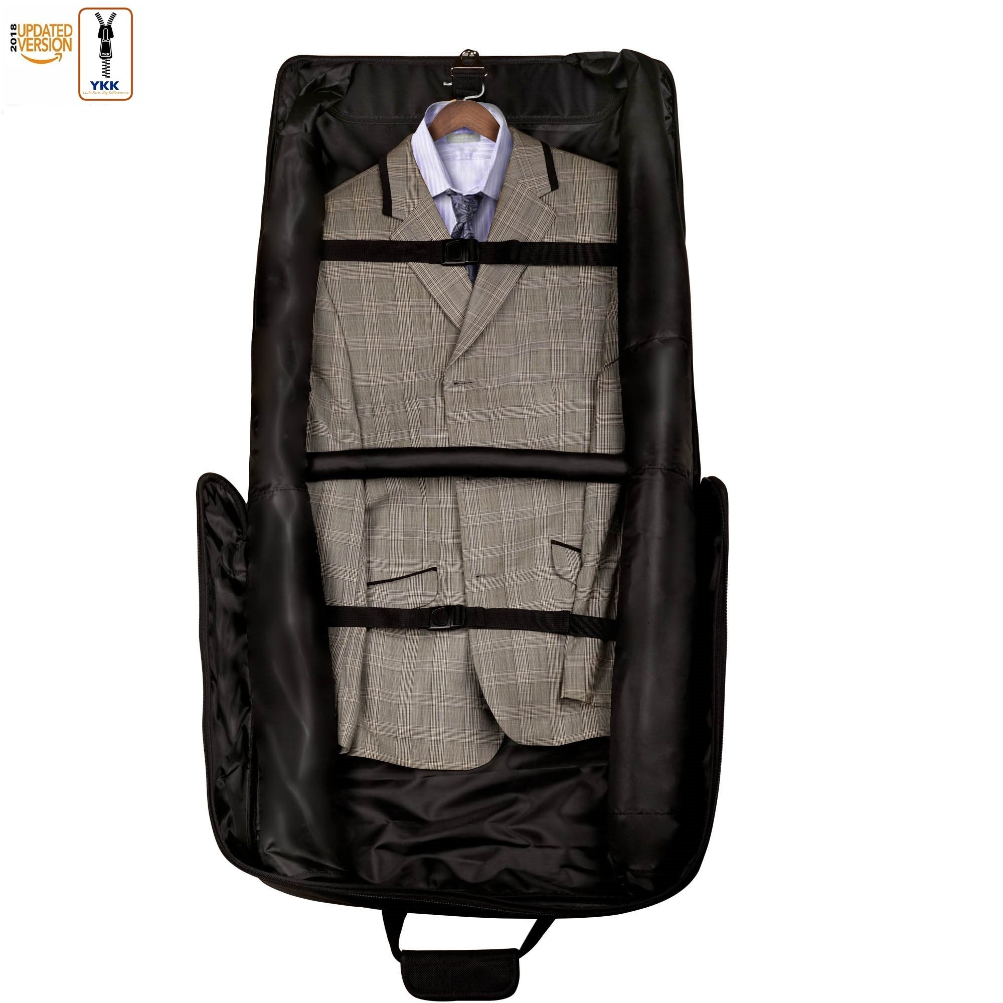 3 Suit Carry On Garment Bag for Travel & Business Trips With Shoulder Strap 40'' Bagazzi Brand by Bagazzi (Image #4)