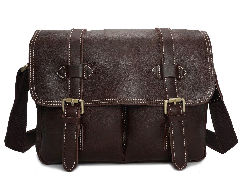 Color : Black, Size : S Dig dog bone Mens Messenger Bag Leather Camera Bag Multifunctional Shoulder Bag Oily Leather Messenger Bag Leather