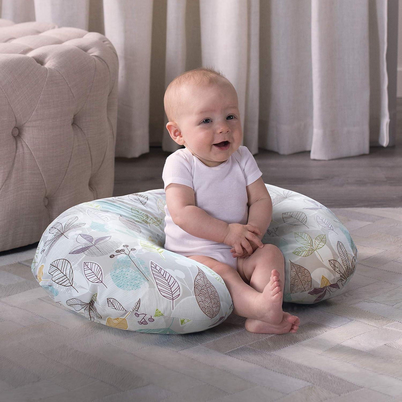 Soft and Comfortable Nursing Pillow Cover Maternity Breastfeeding Cushion Cover Newborn Infant Pillow Slipcover Organic Cotton Blue Dinosaur Print