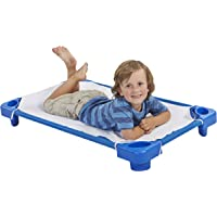 """ECR4Kids Toddler Naptime Cot with Sheets, Stackable Daycare Sleeping Cot for Kids, 40"""" L x 23"""" W, Ready-to-Assemble…"""
